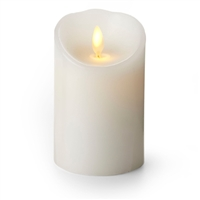 "Luminara - Flameless LED Candle - Indoor - Wax - White - Remote Ready - 3"" x 4"""