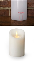 "SCRATCH & DENT SPECIAL! - Luminara - Flameless LED Candle - Indoor - Wax - White - Remote Ready - 3"" x 4"""