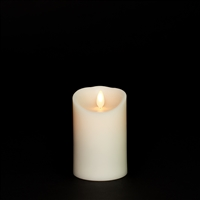 "Luminara - Flameless LED Candle - Indoor - Wax - Ivory - Remote Ready - 3"" x 4"""