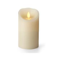 "Luminara - Flameless LED Candle - Indoor - Wax - Ivory - Remote Ready - 3"" x 6"""