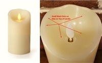 "SCRATCH & DENT SPECIAL! - Luminara - Flameless LED Candle - Indoor - Wax - Ivory - Remote Ready - 3"" x 6"""