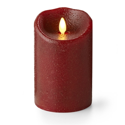 "Luminara - Flameless LED Candle - Indoor - Wax - Country Rio Red - 3.5"" x 5"" - Remote Ready"