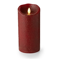 "Luminara - Flameless LED Candle - Indoor - Wax - Country Rio Red - 3.5"" x 7"" - Remote Ready"