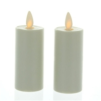 Luminara - Flameless LED Candles - Set of 2 x 3-Inch Votives - Ivory ABS Plastic - Remote Ready