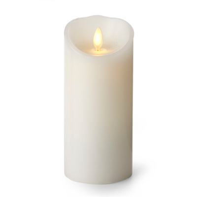 "Luminara - Flameless LED Candle - Indoor - Unscented White Wax - Remote Ready - 3"" x 8"""