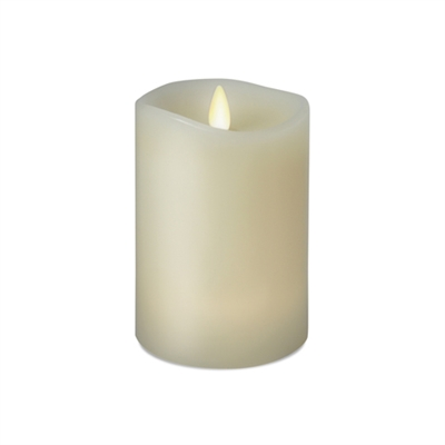 "Luminara - 360-Degree Flameless LED Candle - Indoor - Vanilla Scented Ivory Wax - Remote Ready - 3"" x 4"""