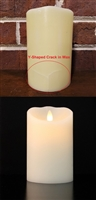 "SCRATCH & DENT SPECIAL! - Luminara - Flameless LED Candle - Indoor - Wax - Ivory - Remote Ready - 3.5"" x 5"""