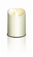 "Luminara - Flameless LED Candle - Outdoor - ABS Plastic - Ivory - Remote Ready - 3.75"" x 5"""