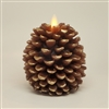 Luminara - Flameless LED Candles - Pine Cone Shape - 3.25-Inch x 4-Inch - Brown Wax - Remote Ready