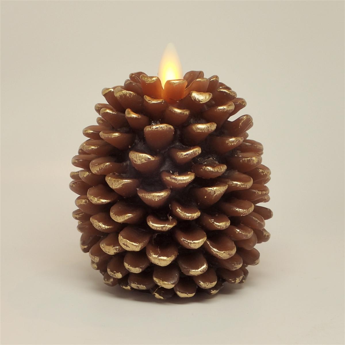 Pine Cone Candles Luminara Flameless Led Candles Pine Cone Shape 325 Inch X 4
