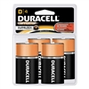 Duracell Coppertop With Duralock Technology - D-Cell - 1.5V - Alkaline Battery - 4-Pack
