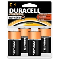Duracell Coppertop With Duralock Technology - C-Cell - 1.5V - Alkaline Battery - 4-Pack