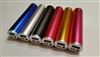 USB Power Bank With Flashlight - 2600mAh Rechargeable Li-Ion Battery - Tubular Aluminum Housing