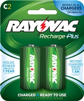 Rayovac - C - 1.2V - 3000mAh - NiMH Rechargeable Battery - 2-Pack