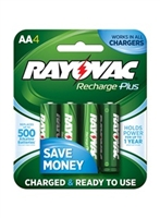 Rayovac - AA - 1.2V - 2400mAh - NiMH Rechargeable Battery - 4-Pack