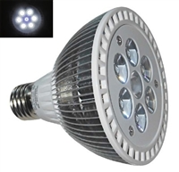 PAR30 LED Aquarium Light Bulb- 10.5W (7 x 1.5W LEDs) - 6 White:1 Blue LEDs