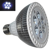 PAR30 LED Aquarium Light Bulb- 10.5W (7 x 1.5W LEDs) - 4 White:3 Blue LEDs