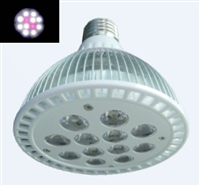 PAR38 LED Plant Grow Light Bulb- 18W (12 x 1.5W LEDs) - 10 White:2 Red LEDs