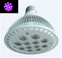 PAR38 LED Plant Grow Light Bulb- 18W (12 x 1.5W LEDs) - 10 Red:2 Blue LEDs