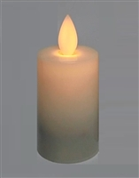 Luminara Moving Flame Action - Individual Additional/Replacement Rechargeable Flameless LED Ivory Votive - Remote Ready
