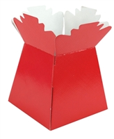 Pearlised Handtied Box /  Living Vase / Transporter box Red