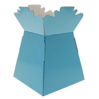 Pearlised Handtied Box / Living Vase / Transporter Box Baby Blue
