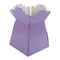 Pearlised Handtied Box / Living Vase / Transporter Box Lavender