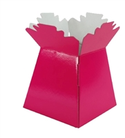 Pearlised Handtied Box / Living Vase / Transporter Box Hot Pink