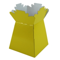 Pearlised Handtied Box / Living Vase / Transporter Box Yellow