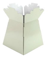 Pearlised Handtied Box / Living Vase / Transporter Box Cream