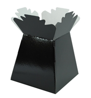 Pearlised Handtied Box / Living Vase / Transporter Box Black