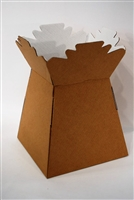 Handtied Box / Living Vase / Transporter Box Natural Kraft