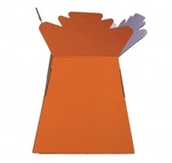 Handtied Box / Living Vase / Transporter Box Orange