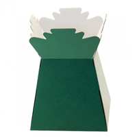 Handtied Box / Living Vase / Transporter Box Dark Green