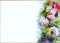 Large Sympathy Card Spring Flowers. 1560072
