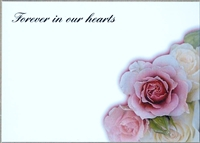 Large Sympathy Card Forever In Our Hearts. 1560078