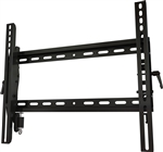 High security anti theft key locking tilting TV wall mount bracket fits 23in to 46in displays with 2.2 inch depth from wall locking key included