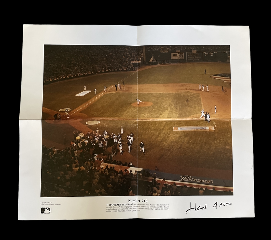 715th Home Run 24K Gold Signature Card Authentic Images Hank Aaron