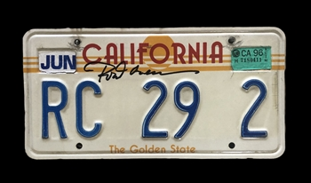 Autographed Personalized License Plate That Belonged to Hall of Fame Player Rod Carew!