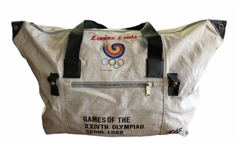 Lennox Lewis' Fight Used 1988 Summer Olympics Duffle Bag!