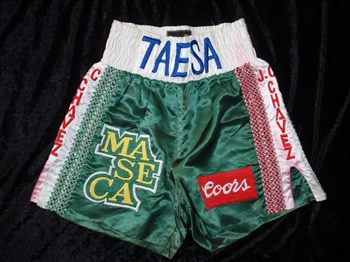 Julio Cesar Chavez Fight-Worn & Autographed Boxing Trunks!
