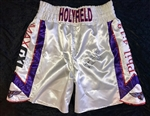 Evander Holyfield's 2010 Fight-Worn and Autographed Trunks!