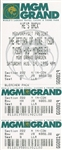 Mike Tyson vs. Peter McNeeley Full / Unused $800.00 *Genuine* Ticket!