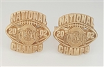 "2002 Ohio State Buckeyes Football ""National Champions"" 10K Gold Cuff Links"