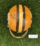 Super RARE Vintage 1971 REGGIE BERRY Game Worn / Used Autographed Football Helmet! NCAA