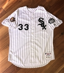 David Wells 2001 Chicago White Sox Game-Worn Home Pin Stripe Jersey!