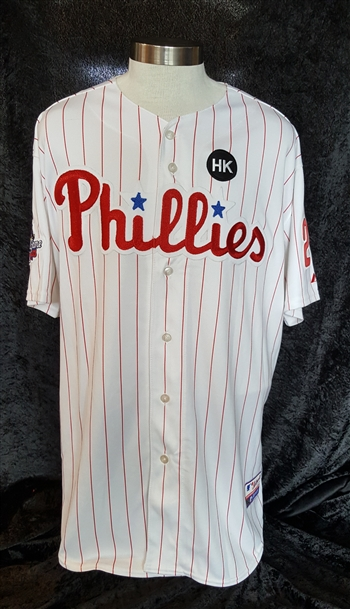 Raul Ibanez 2009 Philadelphia Phillies Game Issued Jersey with the All-Star Game Patch
