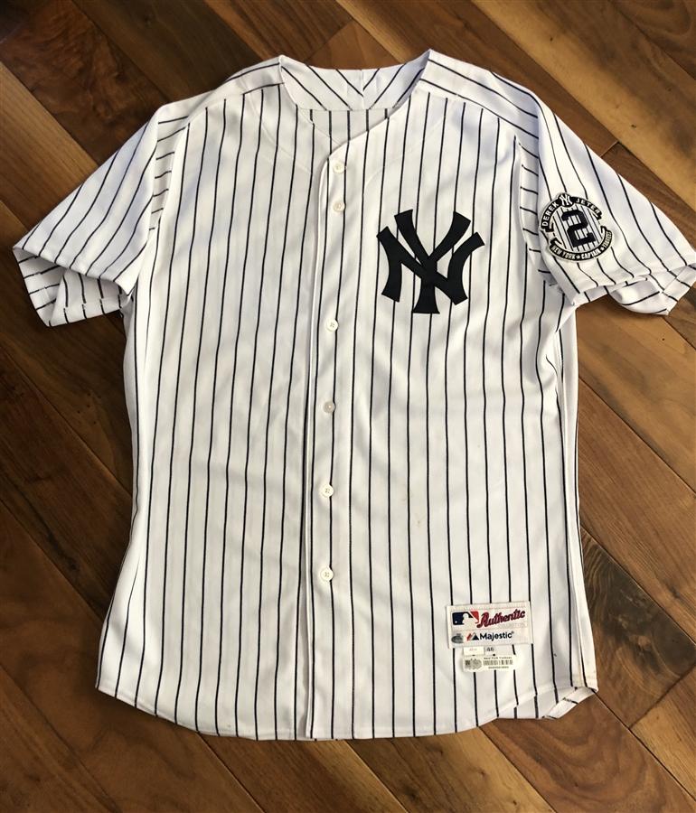 Austin Romine New York Yankees Game-Used #62 White Pinstripe ...