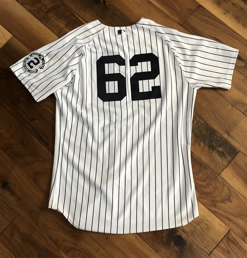 Austin Romine New York Yankees Game-Used #62 White Pinstripe Jersey!