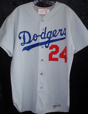 Walt Alston's 1975 L.A. Dodgers Game-Worn Road Jersey #24! {{ Retired # }}